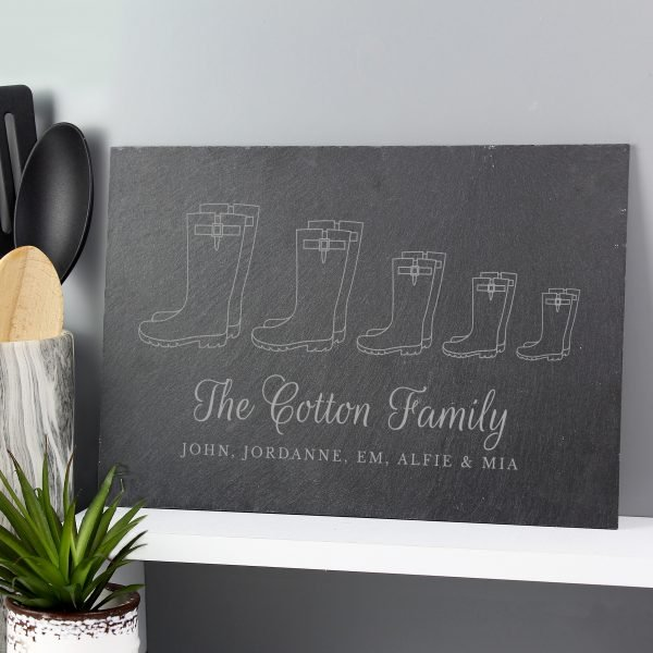 Welly Boot Family of Five Slate
