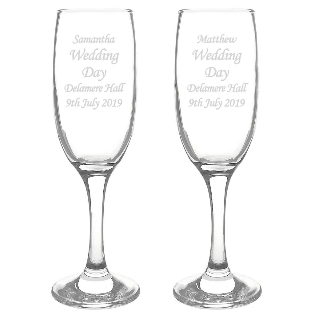 Celebration Pair of Flutes with Gift Box