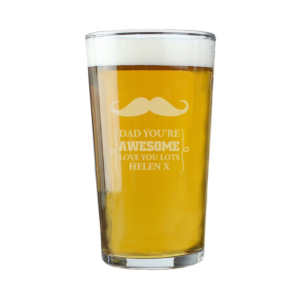 Moustache Pint Glass