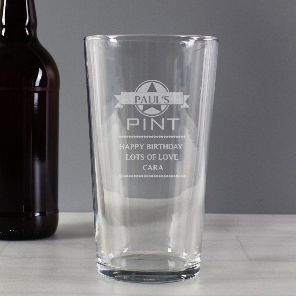 Diamond Pint Glass
