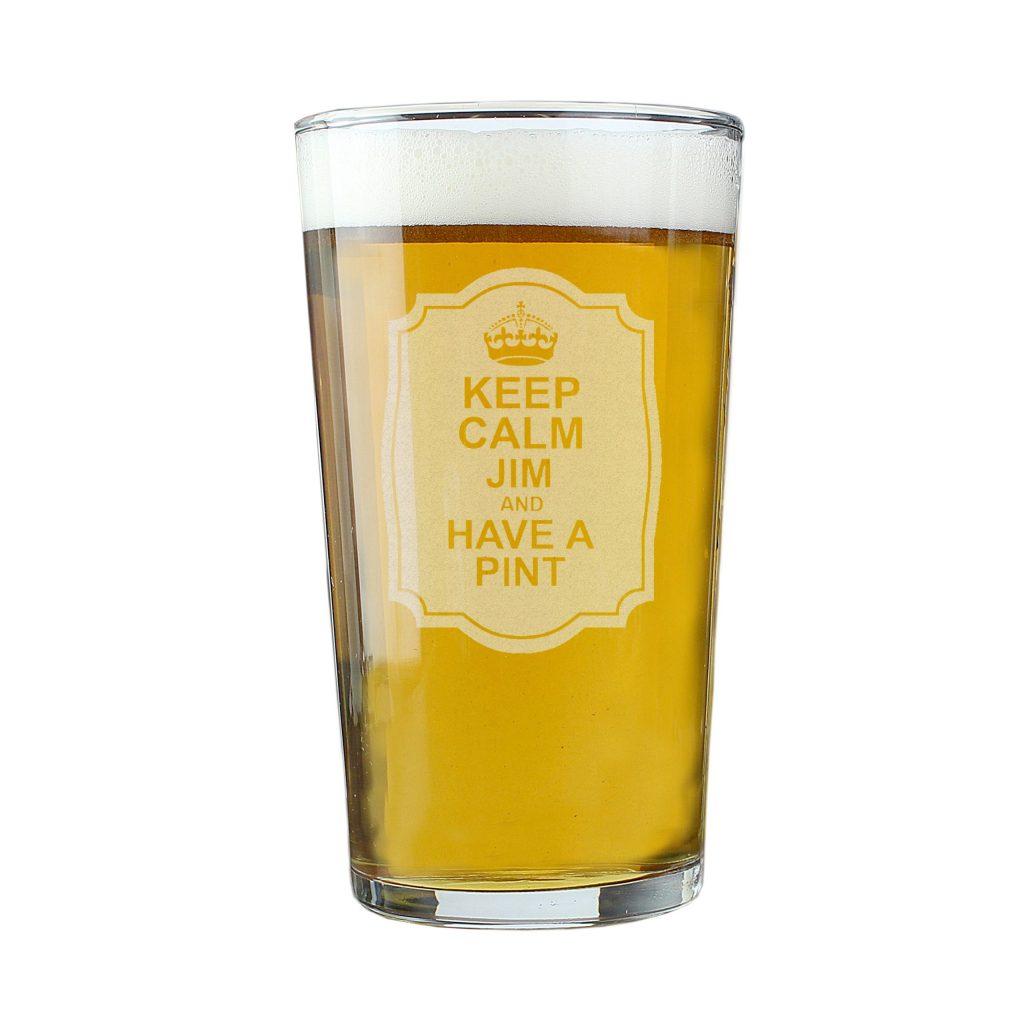 Keep Calm Pint Glass