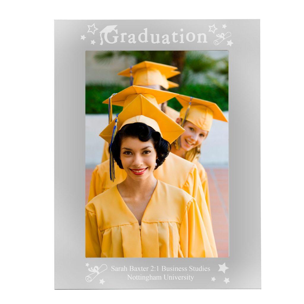 Mirrored Graduation Glass Photo Frame 5x7