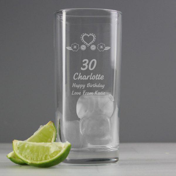 Birthday Craft Hi Ball Glass
