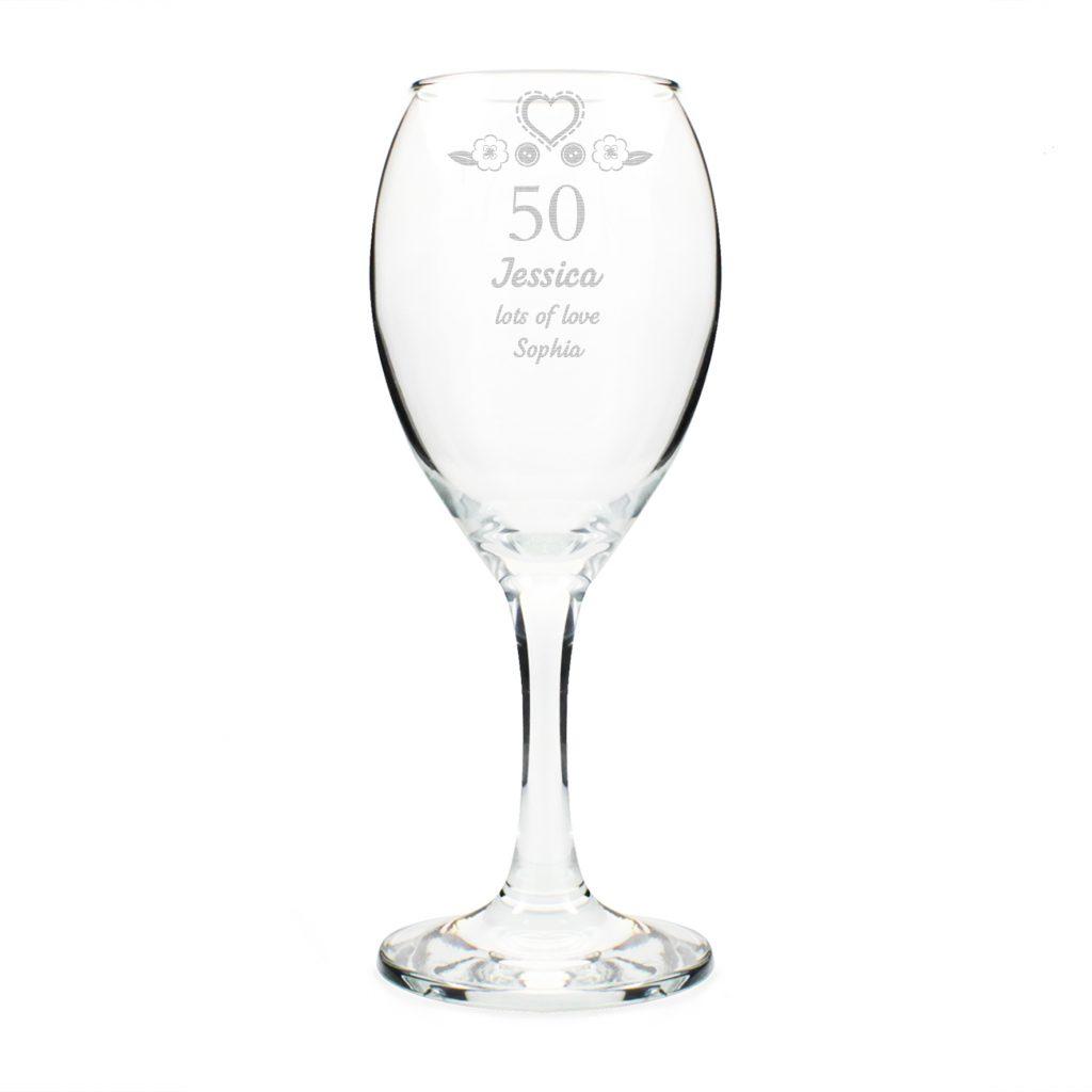 Birthday Craft Wine Glass