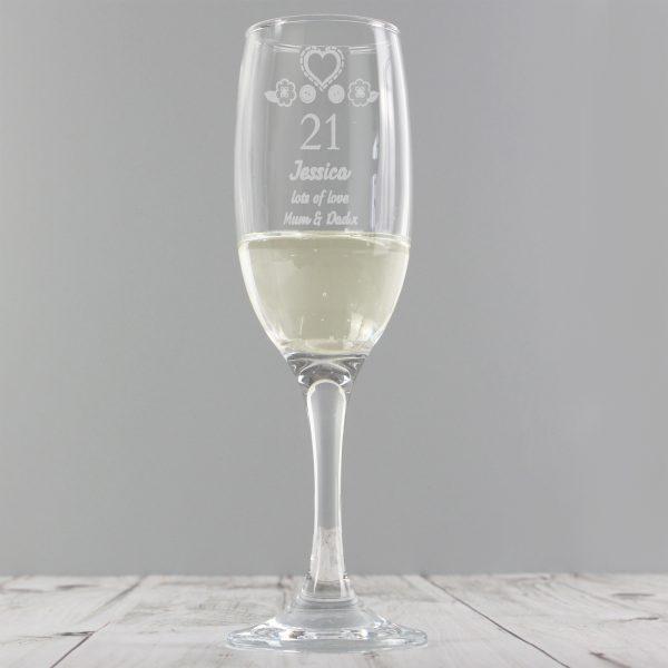 Birthday Craft Flute Glass