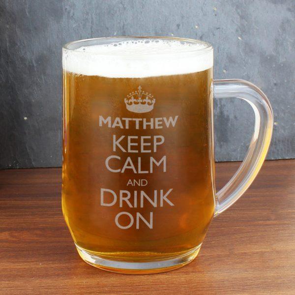 Keep Calm Engraved Beer Tankard