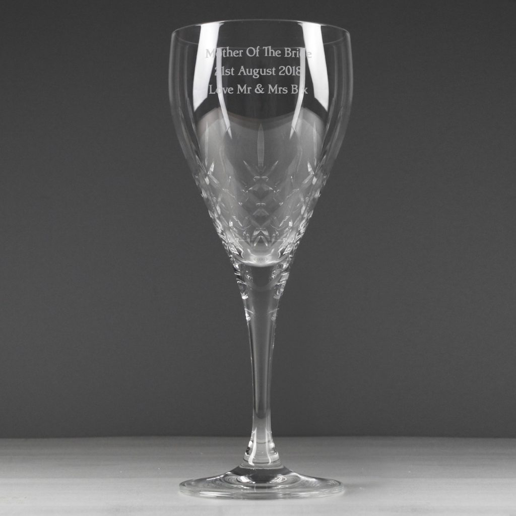 Cut Crystal Wine Glass
