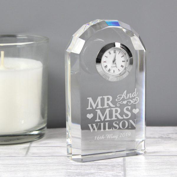 Mr & Mrs Crystal Clock