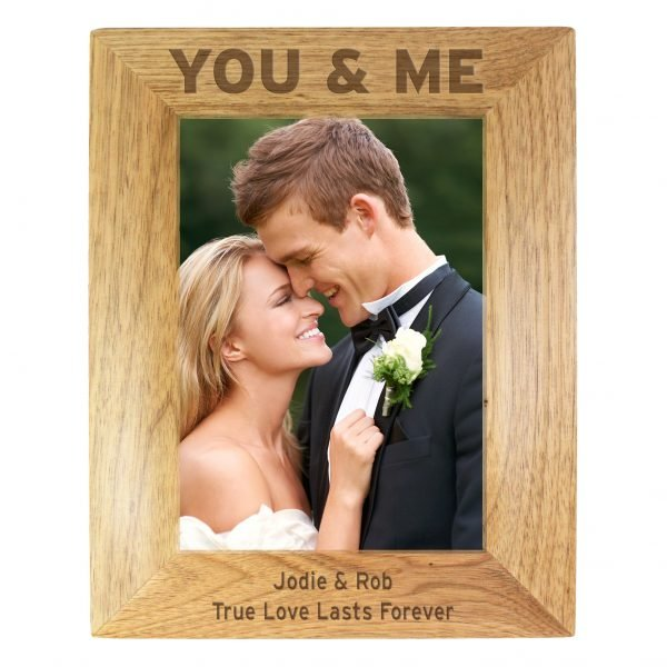 You & Me 5x7 Wooden Photo Frame