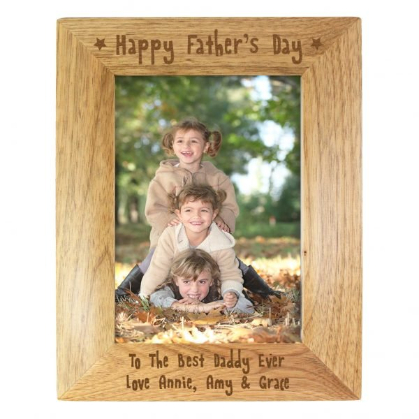 5x7 Happy Fathers Day Wooden Photo Frame