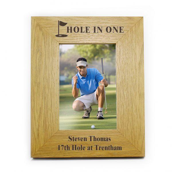 Oak Finish 6x4 Golf Photo Frame