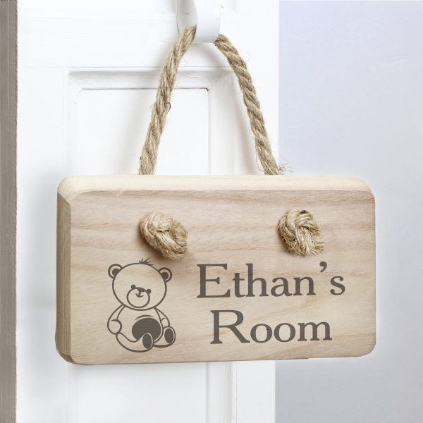 Teddy Wooden Sign