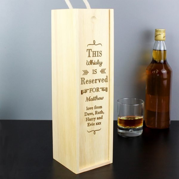 Reserved For Bottle Presentation Box