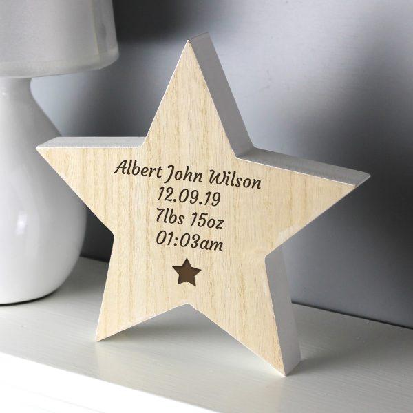 Star Motif Rustic Wooden Star Decoration