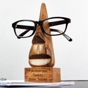 Personalised Wooden Nose-Shaped Glasses Holder