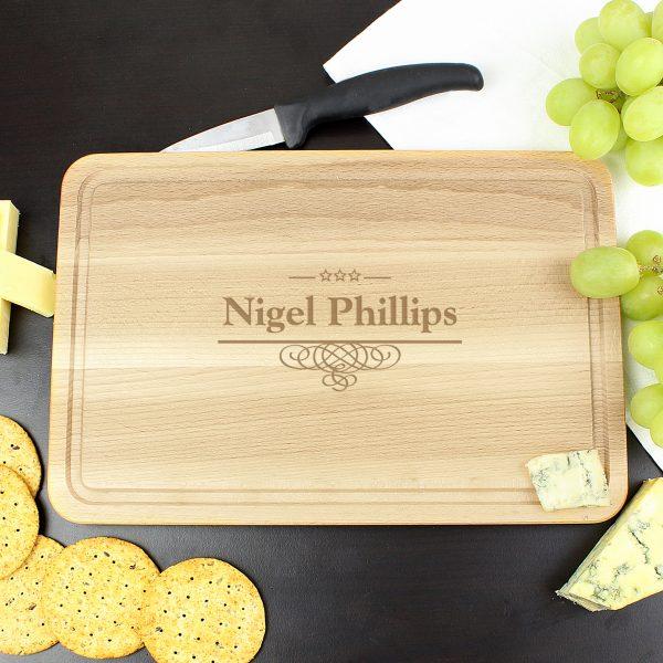 Decorative Swirl Large Chopping Board