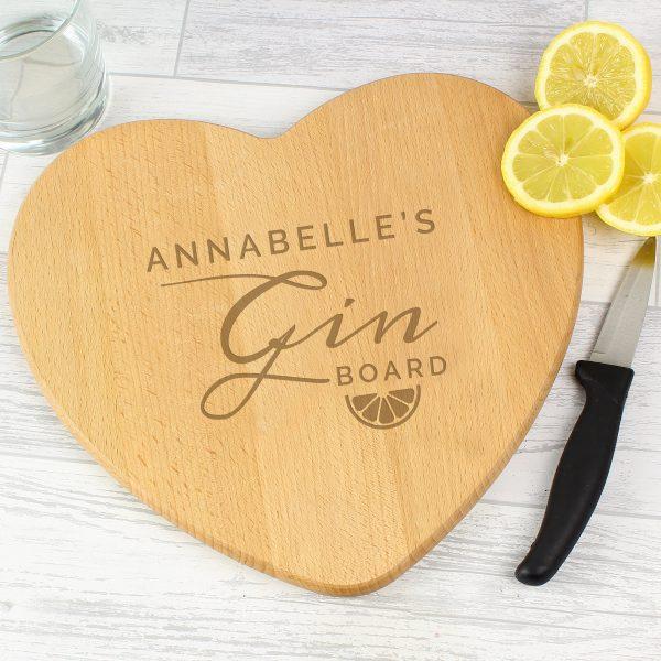 Gin Heart Chopping Board