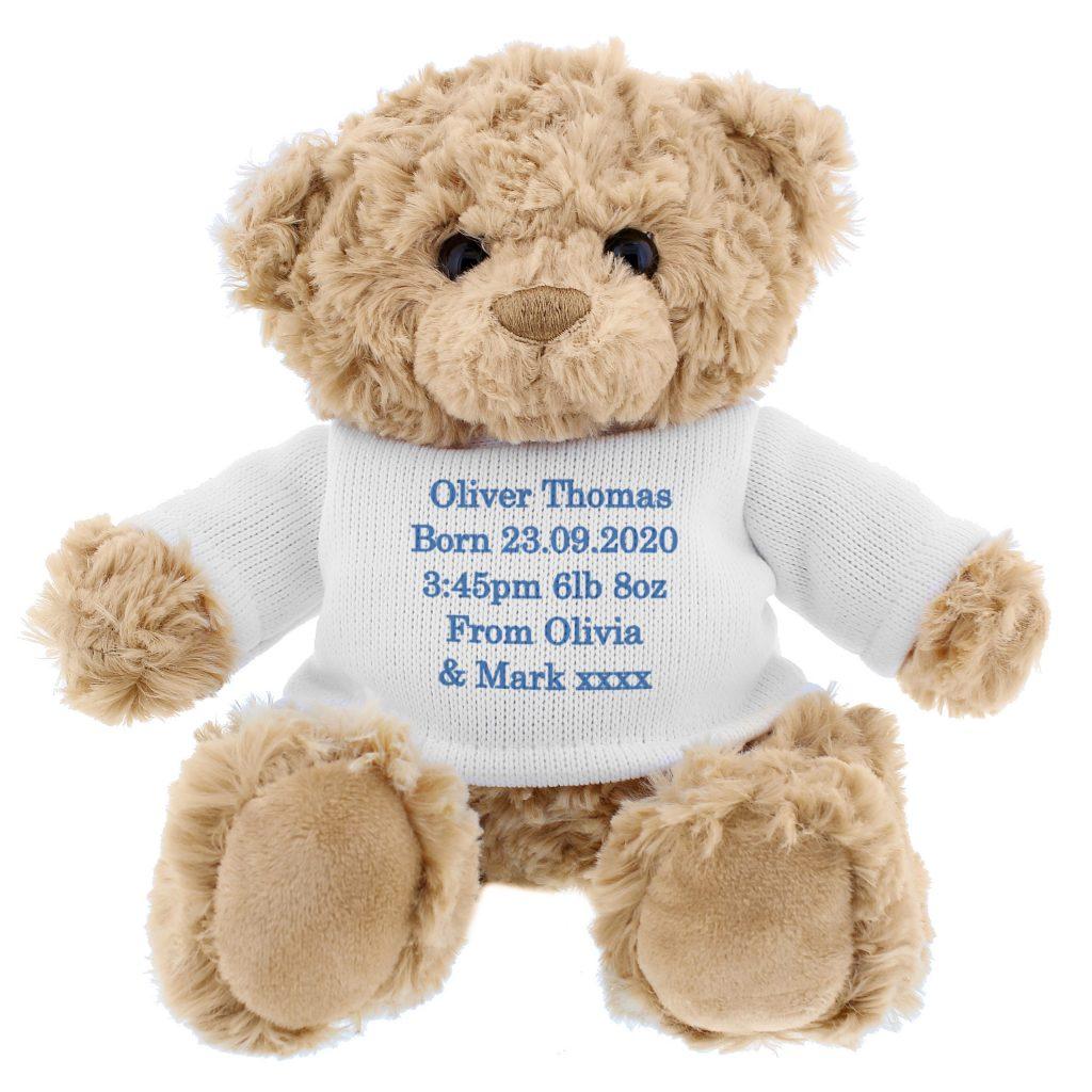 Blue Teddy Message Bear