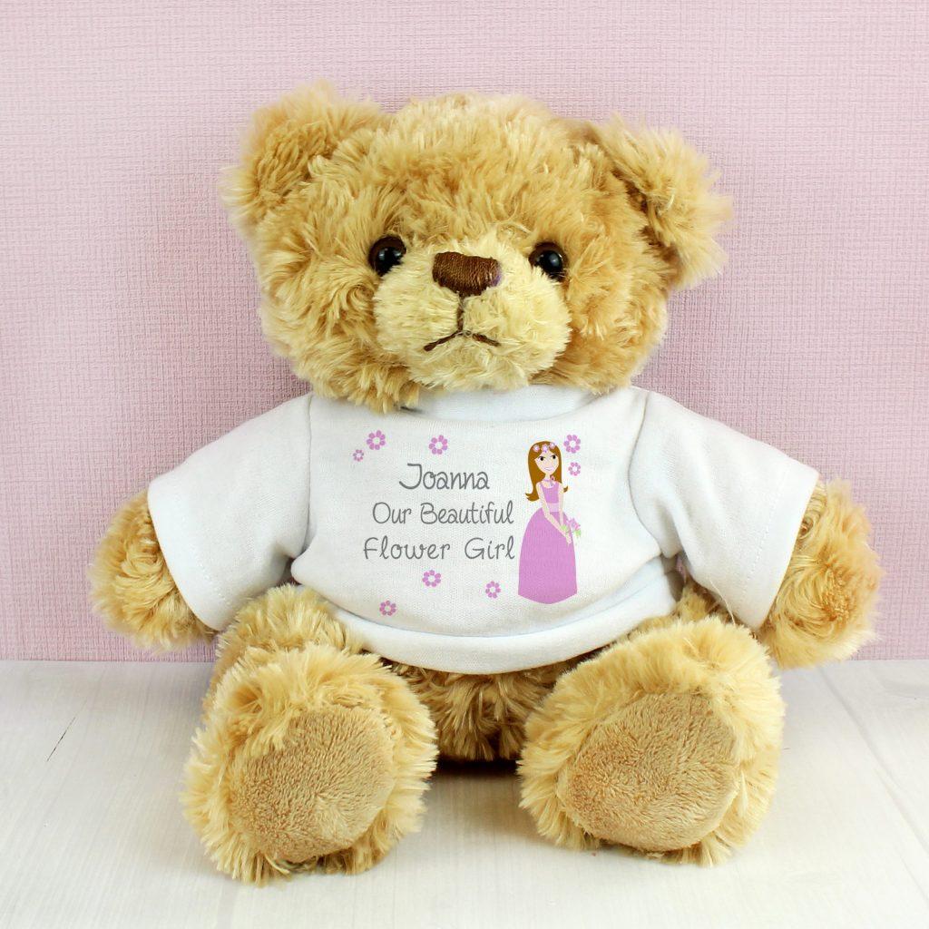 Fabulous Flower Girl Message Bear