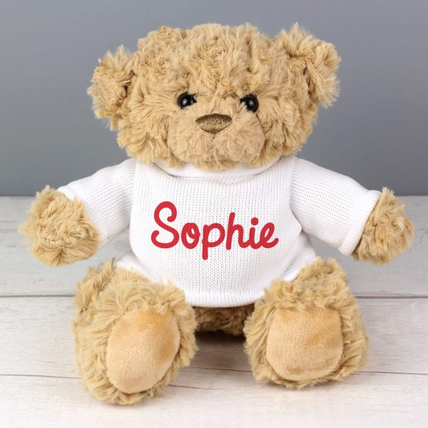 Personalised Name Only Teddy Bear - Red