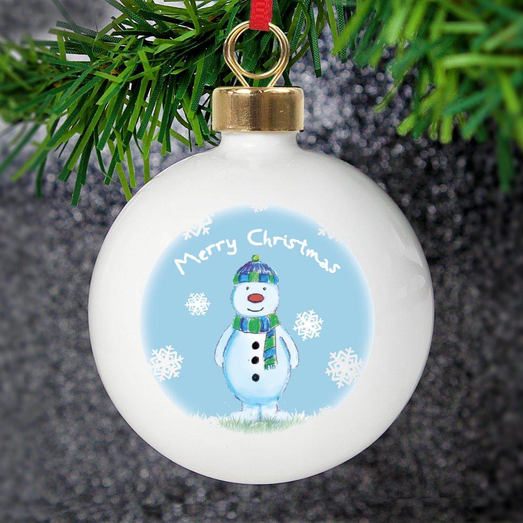 Snow Scene Snowman Bauble