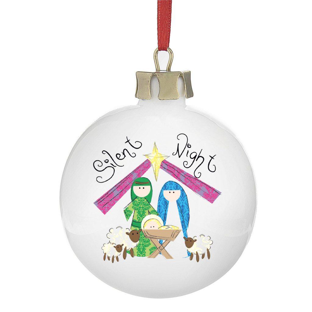 Nativity Silent Night Bauble