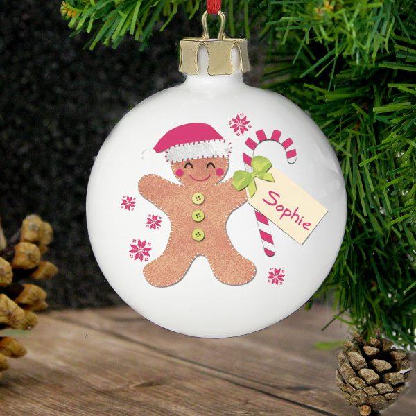 Felt Stitch Gingerbread Man Bauble