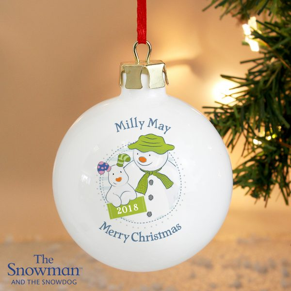 The Snowman and the Snowdog Year Bauble
