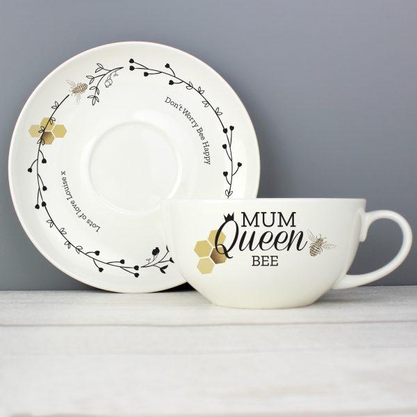 Queen Bee Teacup & Saucer