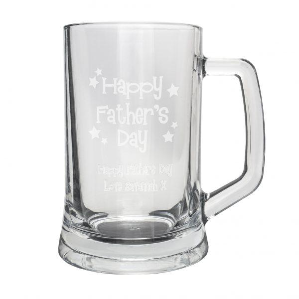 Happy Fathers Day Stars Pint Stern Tankard