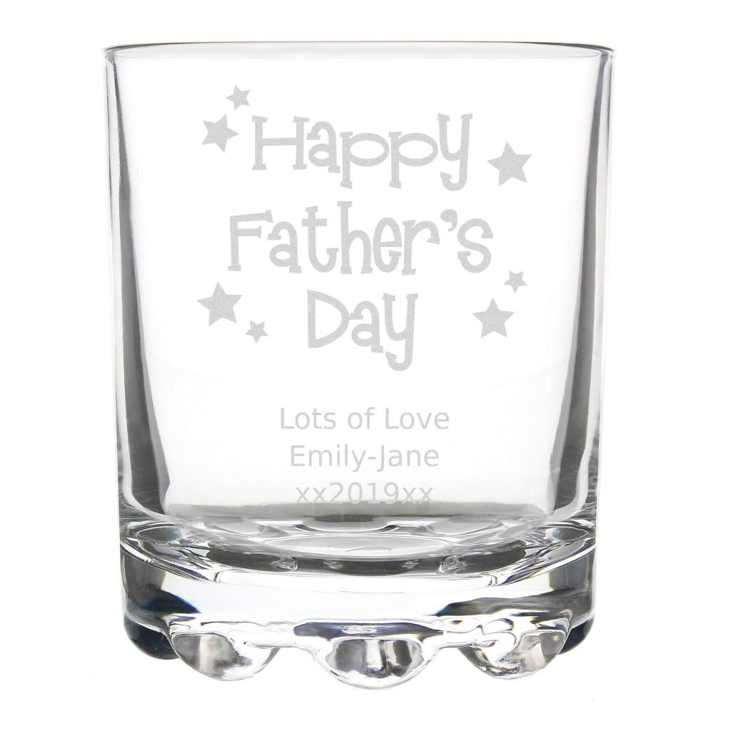 Happy Fathers Day Stars Stern Tumbler