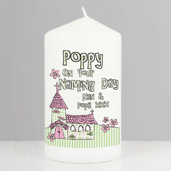 Pink Church Candle