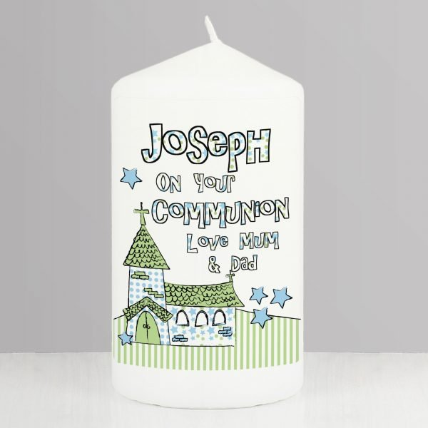 Blue Church Candle