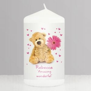 Teddy Flower Candle