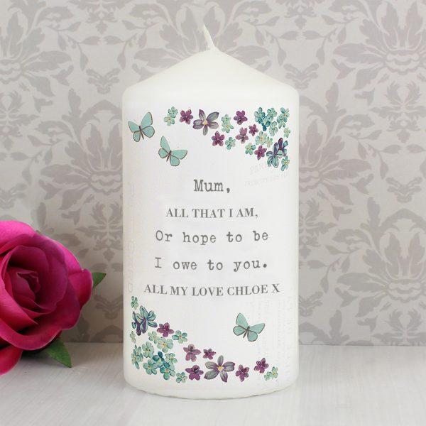 Forget me not Candle