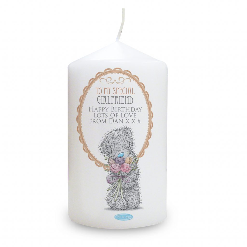 Me to You Flowers Candle For Her