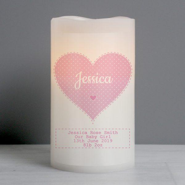 Stitch & Dot Girls Nightlight LED Candle
