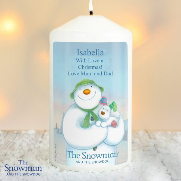 The Snowman and the Snowdog Candle