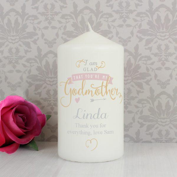 I Am Glad... Godmother Candle