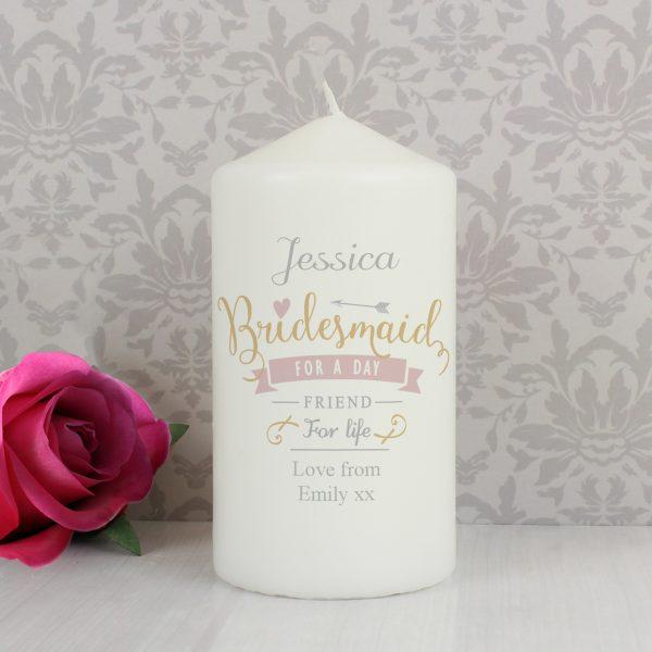 I Am Glad... Bridesmaid Candle