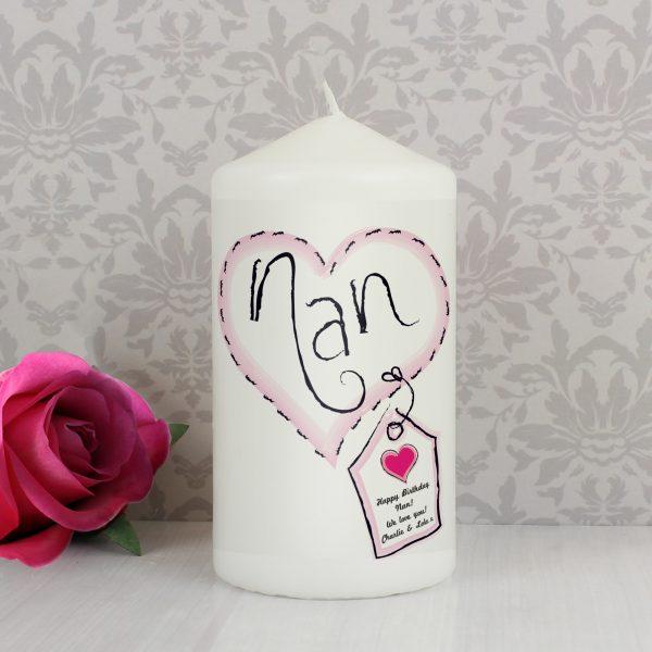 Heart Stitch Nan Candle