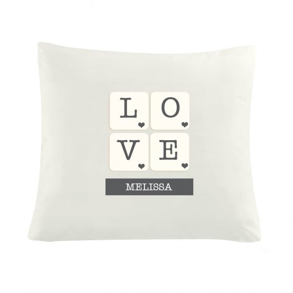 LOVE Tiles Cushion Cover