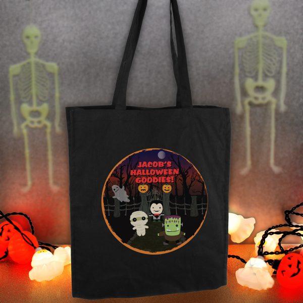 Halloween Black Cotton Bag