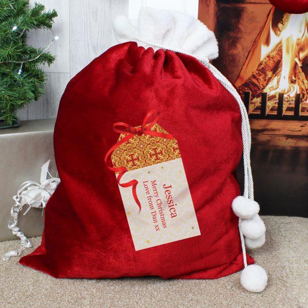 Luxury Present Pom Pom Sack