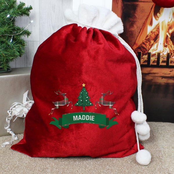 Nordic Christmas Pom Pom Sack