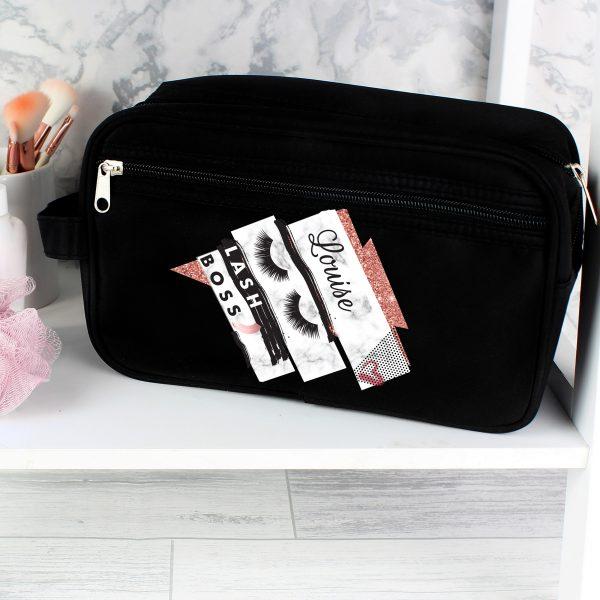 Eyelash Boss Black Vanity Bag