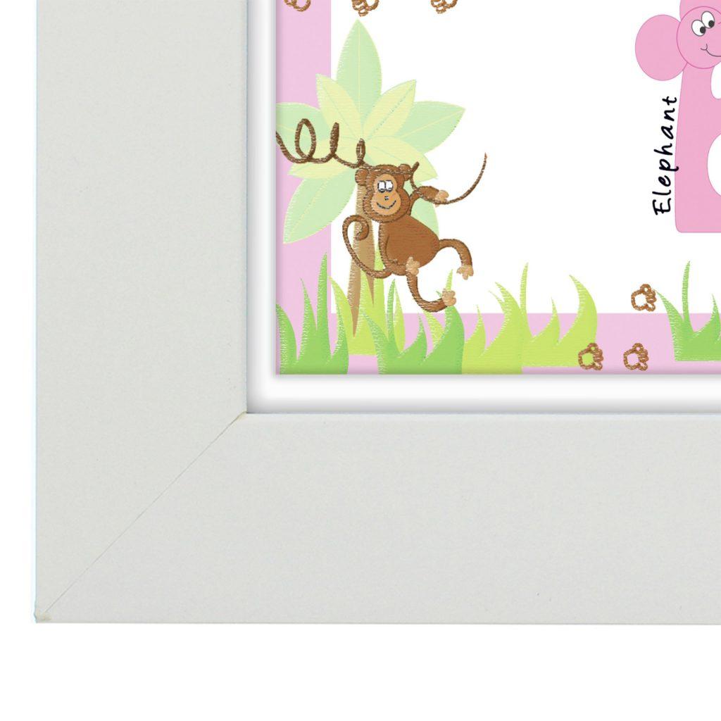 Animal Name Frame Pink