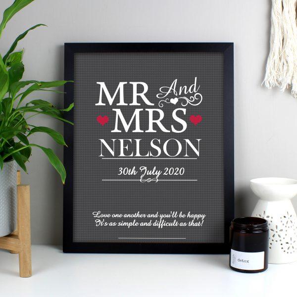 Mr & Mrs Framed Print