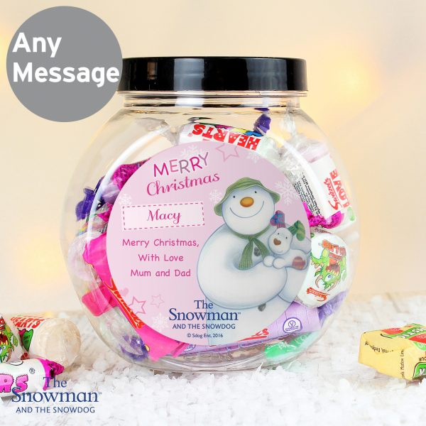 The Snowman and the Snowdog Pink Sweet Jar