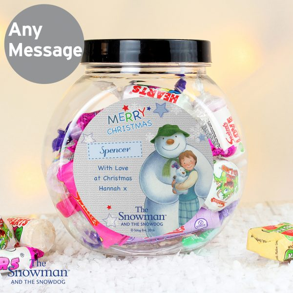 The Snowman and the Snowdog Blue Sweet Jar
